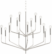 Mitzi H516815-PN Bailey Modern Polished Nickel 36  Chandelier Light