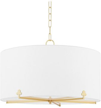 Mitzi H519805-AGB Darlene Aged Brass Drum Ceiling Pendant Light