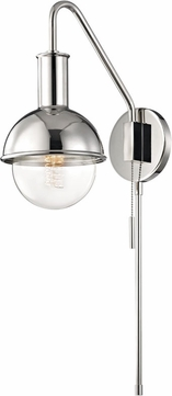 Mitzi HL111101-PN Riley Contemporary Polished Nickel Wall Light Sconce