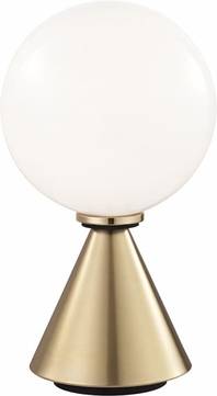 Mitzi HL148201S-AGB-BK Piper Modern Aged Brass / Black LED Table Top Lamp