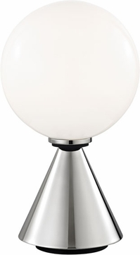 Mitzi HL148201S-PN-BK Piper Contemporary Polished Nickel / Black LED Side Table Lamp