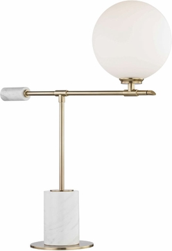 Mitzi HL152201-AGB Bianca Contemporary Aged Brass LED Table Light
