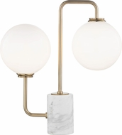Mitzi HL170201-AGB Mia Modern Aged Brass LED Table Lamp Lighting