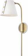 Mitzi HL174201-AGB-WH Meta Modern Aged Brass / White LED Wall Sconce Light