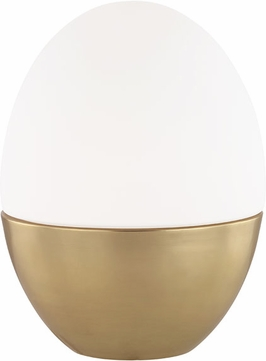 Mitzi HL206201L-AGB Orion Contemporary Aged Brass 10 Lighting Table Lamp