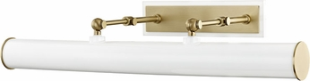 Mitzi HL263203-AGB-WH Holly Modern Aged Brass / White 24  Picture Lighting