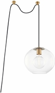 Mitzi HL270701L-AGB Margot Contemporary Aged Brass Drop Lighting