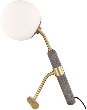 Mitzi HL289201-AGB Brielle Contemporary Aged Brass Table Lamp