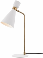 Mitzi HL295201-AGB-WH Willa Contemporary Aged Brass / White Desktop Lamp