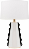 Mitzi HL337201-BW-GL Faith Modern Black / White / Gold Leaf Floor Light