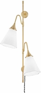 Mitzi HL356102-AGB Mara Contemporary Aged Brass Wall Swing Arm Lamp
