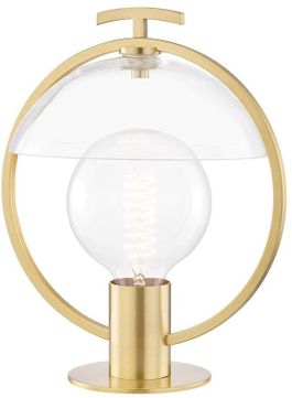 Mitzi HL387201-AGB Ringo Contemporary Aged Brass Lighting Table Lamp