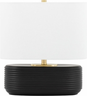 Mitzi HL435201-MB Janel Modern Matte Black Accent Table Lamp