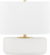 Mitzi HL435201-MW Janel Modern Matte White Accent Table Lighting