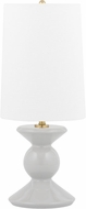Mitzi HL451201-GRY Lonnie Modern Gray Accent Table Lamp Lighting