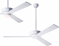Modern Fan Company ALT-GW-WH Altus Contemporary Gloss White LED Home Ceiling Fan