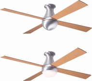 Modern Fan Company BAL-FM-BA-MP Ball Flush Contemporary Brushed Aluminum LED Home Ceiling Fan