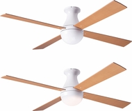 Modern Fan Company BAL-FM-GW-MP Ball Flush Modern Gloss White LED Ceiling Fan