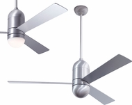 Modern Fan Company CIR-BA-50-AL Cirrus DC Modern Brushed Aluminum LED 50  Ceiling Fan