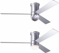Modern Fan Company CIR-FM-BA-50-AL Cirrus Flush DC Contemporary Brushed Aluminum LED 50  Ceiling Fan