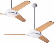 Modern Fan Company FLO-GW-52-BB Flow Contemporary Gloss White LED 52  Ceiling Fan