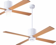 Modern Fan Company FLU-GW-52-MP Flute Modern Gloss White LED 52  Ceiling Fan