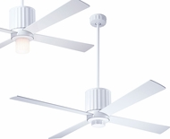 Modern Fan Company FLU-GW-52-WH Flute Modern Gloss White LED 52  Home Ceiling Fan