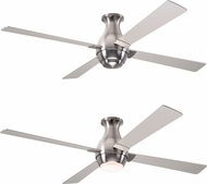 Modern Fan Company GUS-FM-BN-56-NK Gusto Flush Modern Bright Nickel LED 56  Home Ceiling Fan