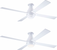 Modern Fan Company GUS-FM-GW-56-WH Gusto Flush Modern Gloss White LED 56  Ceiling Fan