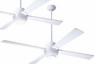 Modern Fan Company GUS-GW-56-WH Gusto Contemporary Gloss White LED 56  Ceiling Fan
