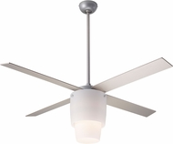 Modern Fan Company HAL-NO-52-NK-LED Halo Modern Nickel w/ Opal Glass LED 52  Home Ceiling Fan