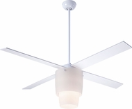Modern Fan Company HAL-WO-52-WH-LED Halo Modern White w/ Opal Glass LED 52  Home Ceiling Fan