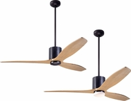 Modern Fan Company LLX-DBBK-54-MP LeatherLuxe DC Contemporary Dark Bronze with Black Leather LED 54 Home Ceiling Fan