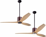 Modern Fan Company LLX-DBCH-54-MP LeatherLuxe DC Modern Dark Bronze with Chocolate Leather LED 54 Ceiling Fan