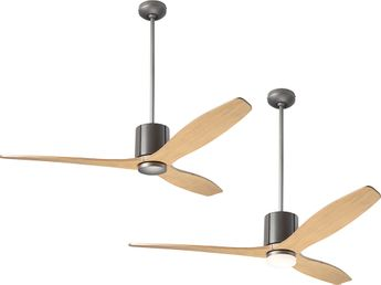 Modern Fan Company LLX-GTGY-54-MP LeatherLuxe DC Modern Graphite with Gray Leather LED 54 Ceiling Fan