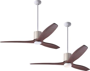 Modern Fan Company LLX-GWIV-54-MG LeatherLuxe DC Modern Gloss White with Ivory Leather LED 54 Ceiling Fan