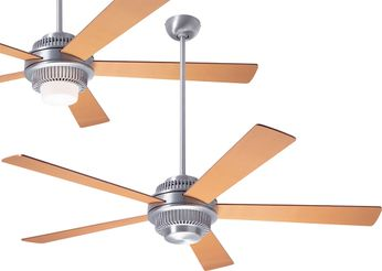 Modern Fan Company SOL-BA-52-MP Solus Contemporary Brushed Aluminum LED 52 Home Ceiling Fan