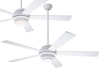 Modern Fan Company SOL-GW-52-WH Solus Contemporary Gloss White LED 52 Home Ceiling Fan