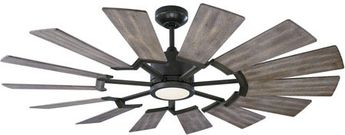 Monte Carlo Fans 14PRR52AGPD Prairie Contemporary Aged Pewter LED 52  Ceiling Fan