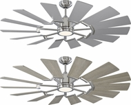 Monte Carlo Fans 14PRR52BSD Prairie 52 Contemporary Brushed Steel LED 52 Home Ceiling Fan