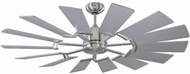 Monte Carlo Fans 14PRR52BSD Prairie Contemporary Brushed Steel LED 52 Home Ceiling Fan
