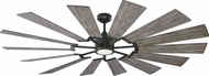 Monte Carlo Fans 14PRR72AGPD Prairie 72 Contemporary Aged Pewter LED 72 Home Ceiling Fan