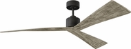 Monte Carlo Fans 3ADR60AGP Adler Contemporary Aged Pewter 60 Ceiling Fan