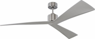 Monte Carlo Fans 3ADR60BS Adler Contemporary Brushed Steel 60  Ceiling Fan