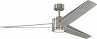 Monte Carlo Fans 3AMR60BSD Armstrong Modern Brushed Steel LED 60 Home Ceiling Fan