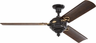 Monte Carlo Fans 3AOR60ATIHAB Arezzo Traditional Antique Iron / Hand-Rubbed Antique Brass 60 Home Ceiling Fan