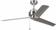 Monte Carlo Fans 3AR54BS Arcade 54 Contemporary Brushed Steel 54 Home Ceiling Fan
