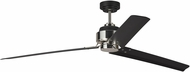 Monte Carlo Fans 3ARR68MBKPN Arcade 68 Contemporary Midnight Black / Polished Nickel 68 Home Ceiling Fan