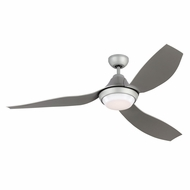 Monte Carlo Fans 3AVOR56GRYD Avvo Contemporary Grey LED 56  Ceiling Fan