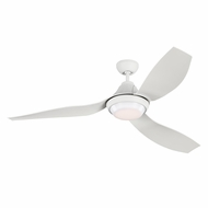 Monte Carlo Fans 3AVOR56RZWD Avvo Contemporary Rubberized White LED 56  Ceiling Fan